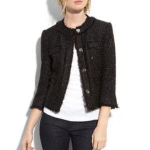 MICHAEL KORS Black Sparkly Holiday Blazer 8P